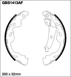 OE-QUALITY-Unipart-GBS1413AF-REAR-Brake-Shoe-Set-TOYOTA-YARIS-01-2001-on