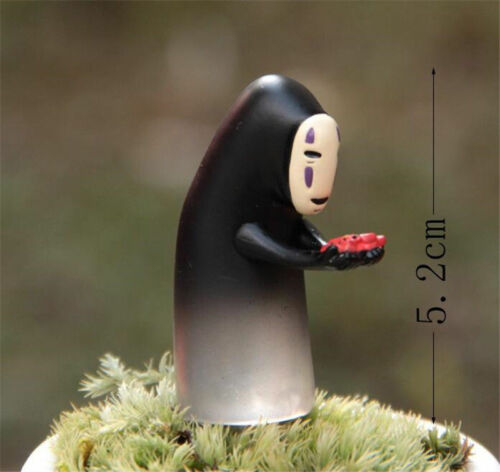 2pcs Studio Ghibli Spirited Away No Face Man Chihiro Figures Faceless Toy Gift