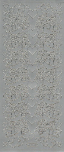 Starform Outline Stickers N° 817 Cupidon Ange Coeur Auto-collants Peel offs