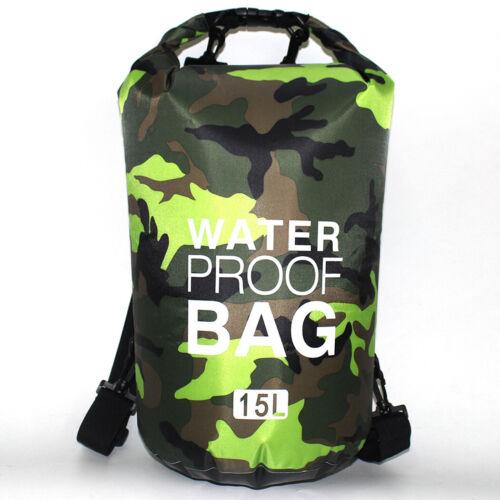 Waterproof Dry Bag Water Resistance Lightweight Backpack Camo Storage Gym Hike
