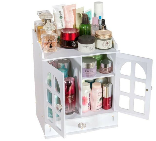 Superieur Makeup Organizer Drawer Vanity Cosmetics Plastic Holder Dressing Table  Storage