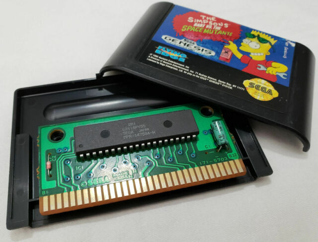 Simpsons Bart vs Space Mutants Genesis AUTHENTIC Sega genuine simpson mutant