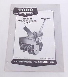 toro snow blowers manuals