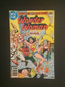 WONDER-WOMAN-268-Drowning-Animal-Man-and-Hera-DC-Bronze-Age-1980