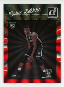 2016-17-Donruss-CARIS-LEVERT-Rare-HOLO-LASER-RED-ROOKIE-CARD-RC-99-Nets-167