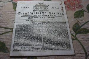LibéRal 1832 Stralsund Journal 144/-afficher Le Titre D'origine