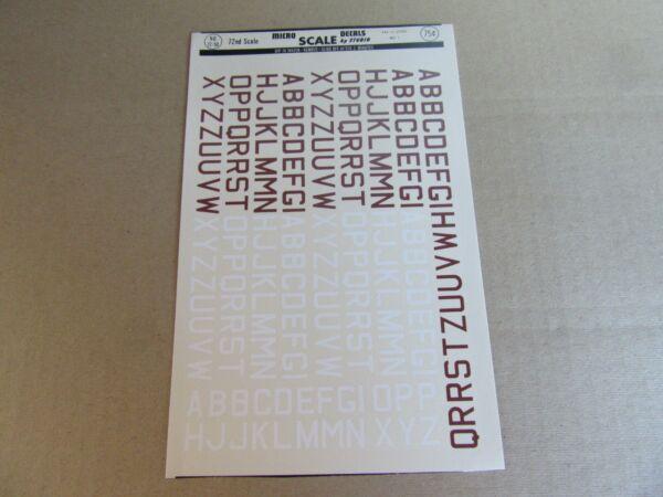 192k Microscale Decals 72-50 Insigne Raf Id Lettres Med 3 Marron Blanc 1:72
