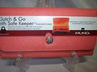 Mundi Clutch & Go With Safe Keeper,orange With Black Interior,identity Shield