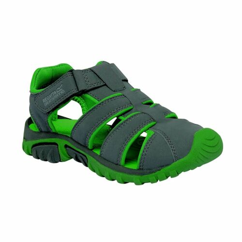 REGATTA RKF411 Boys Kids Boardwalk Junior Sandals Green 2.5 UK SIZES 10 13