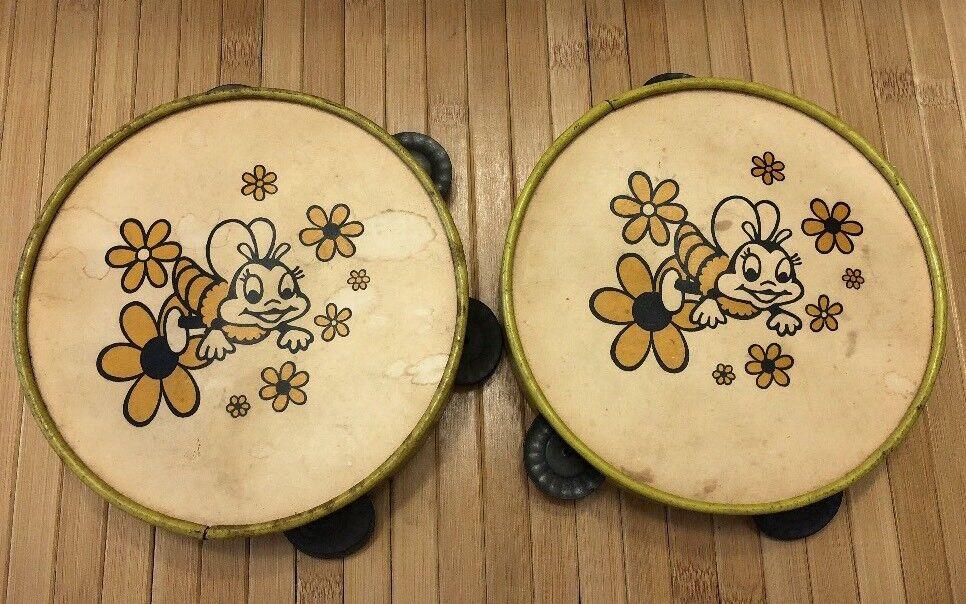 Romper Room Do-Bee Tambourine Set Metal Percussion Tambourines