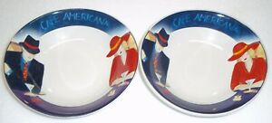 SET-OF-2-Sango-Cafe-Americana-SOUP-CEREAL-BOWLS-7-3-4-inches-across