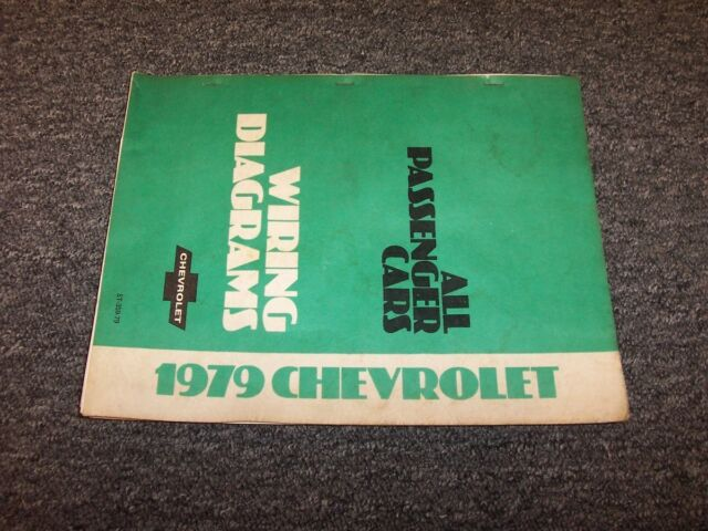1979 Chevy Camaro Factory Electrical Wiring Diagram Manual