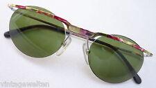 CARRERA unisex leichte Sonnenbrille Damen Metall randlos grüne Gläser 90er Jahre