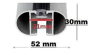 05-11 Ford Focus mk II Pair of Roof Bars Beta 100-T-profile Lock Aero 120cm