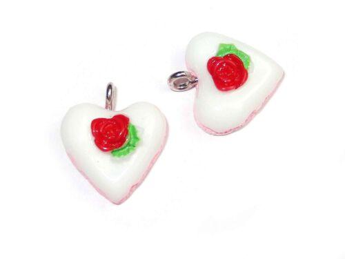 Cake barquillo dado perlas bricolaje #h10466 Colgante Charms pastel