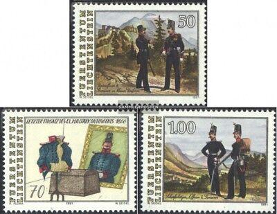 Postfrisch 1991 Militäreinsatz Kunden Zuerst Ausdrucksvoll Liechtenstein 1020-1022 kompl.ausg.