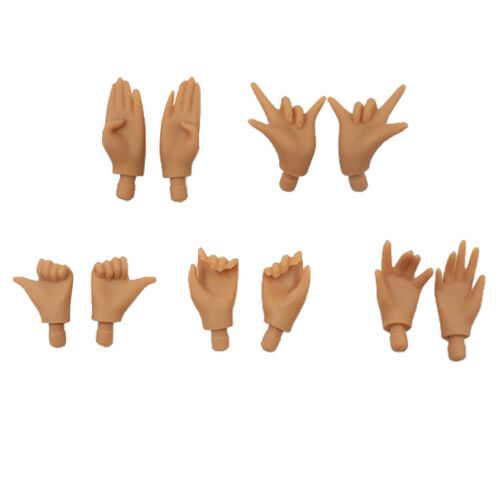 5 Pairs Movable Hands for Blythe Licca Doll Custom Body Parts Accessory
