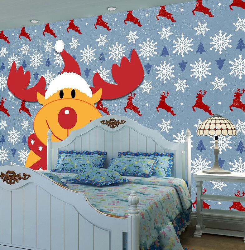 3D Cute Cartoon Deer 8 Wall Paper Murals Wall Print Wall Wallpaper Mural AU Kyra
