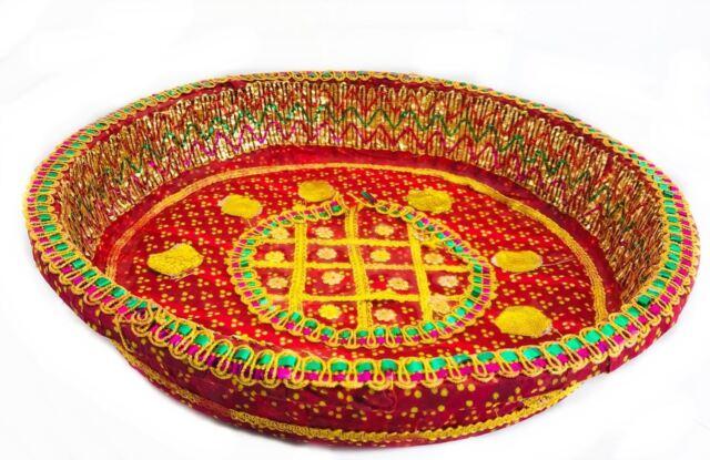 Decorative Tray Chaab Sequins Indian Wedding Xmas Gift Pooja