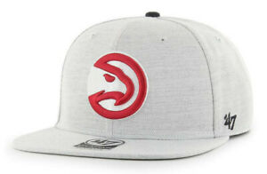 ATLANTA HAWKS NBA FLAT BILL SNAPBACK BORELAND HEATHER CAP HAT NEW! '47 BRAND