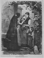 W.. HASEMANN - der TROTZKOPF - alter Druck - 1878 - Illustration - old print