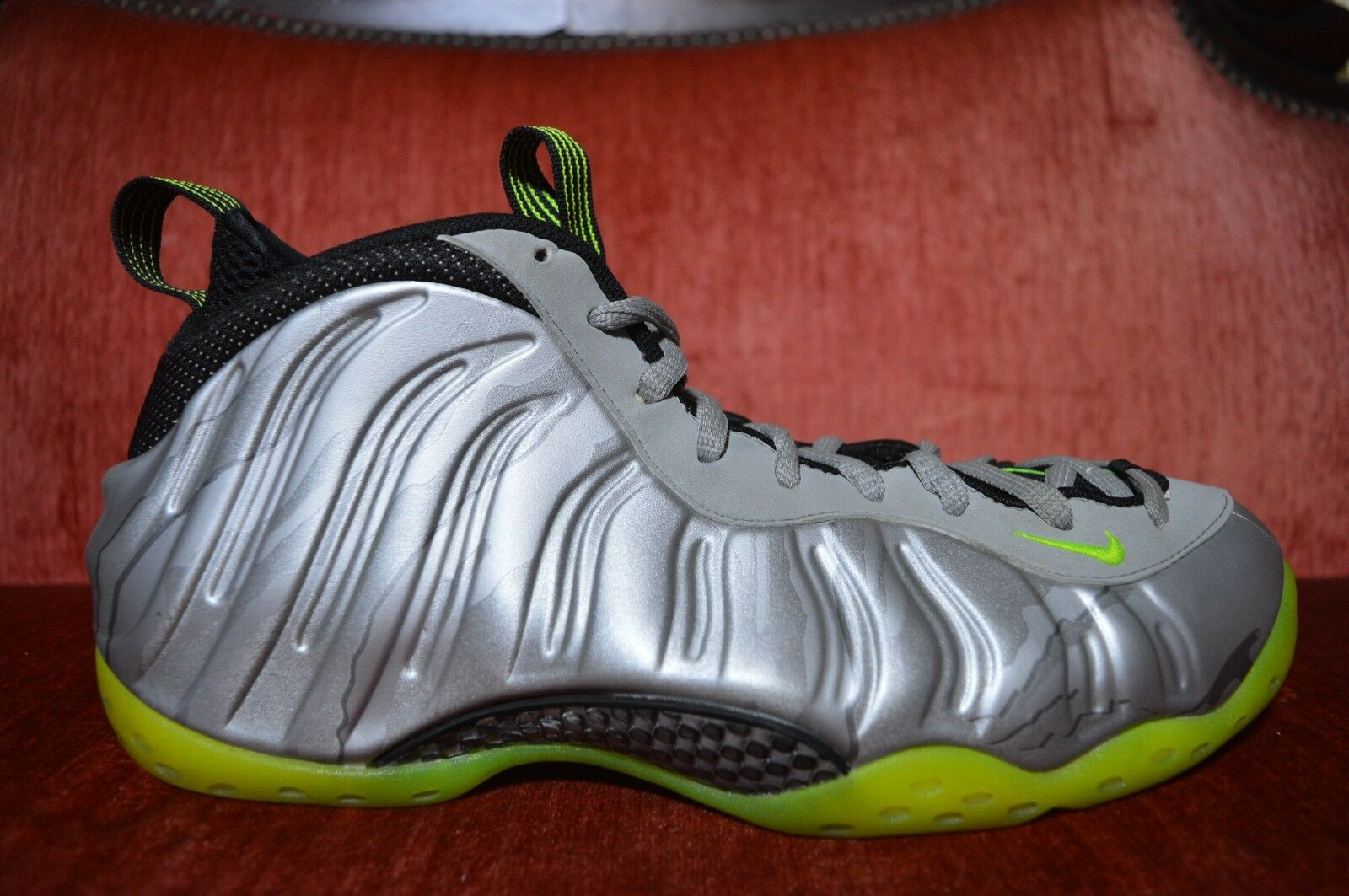Nike Air PMR Foamposite one 1 PMR Air Volt Metallic Plata Camo 575420-004 11,5 estacional de liquidación a38761