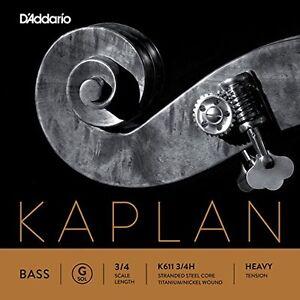 D'Addario Kaplan Bass Single G String, 3/4 Scale, Heavy Tension