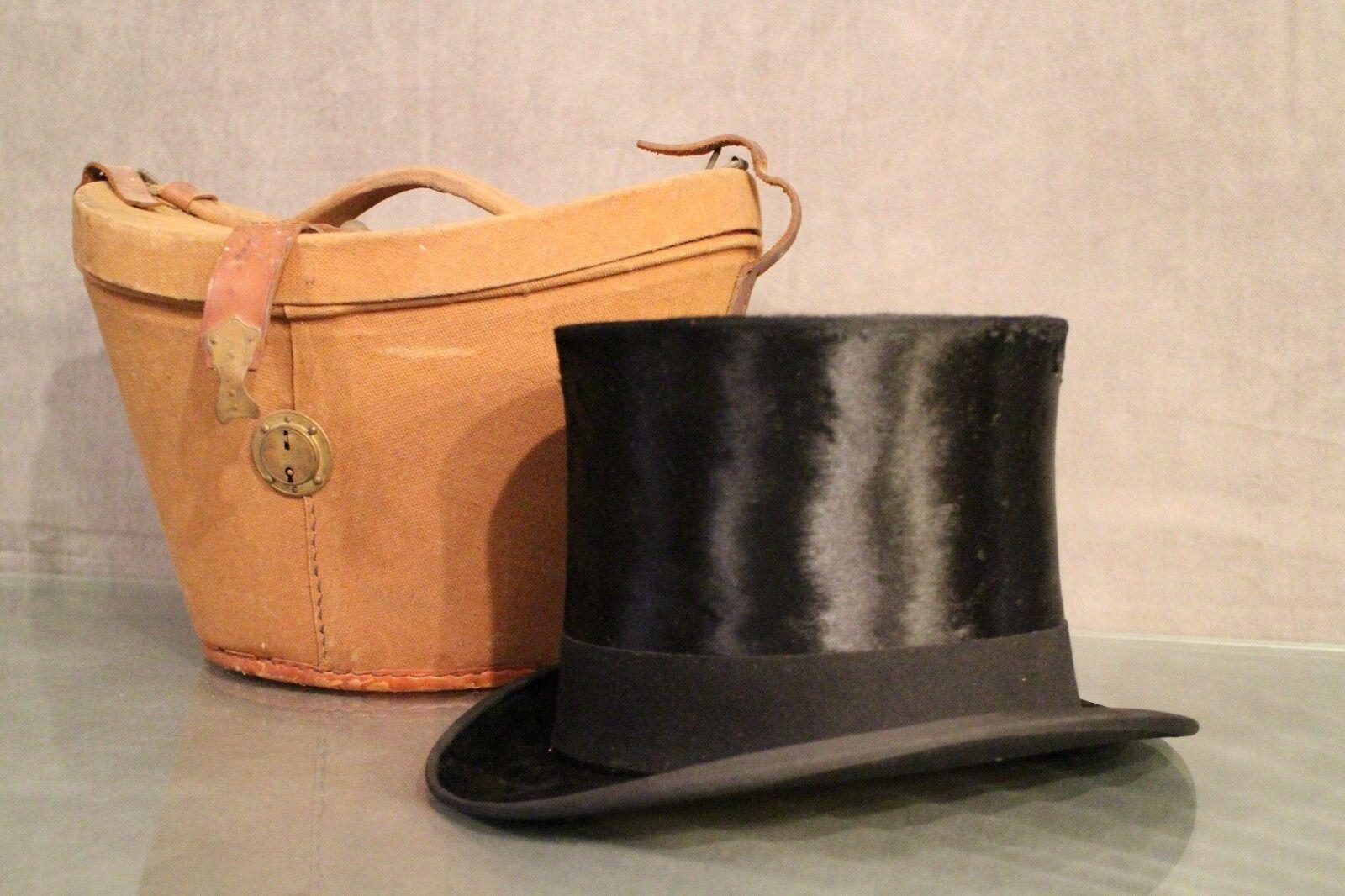 Caja de Sombrero y Sombrero Alta Forma Corona Ducale Firmado por Motsch &