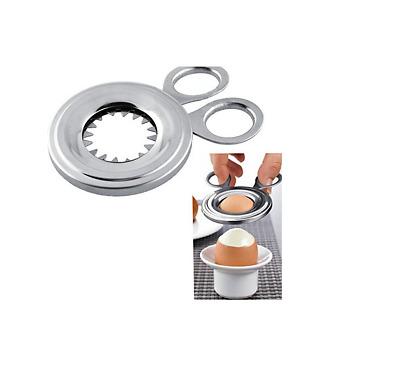 Coupe-oeufs En acier inoxydable Oeuf bouilli Topper Ouvre-oeufs Gadget de cuYJFR