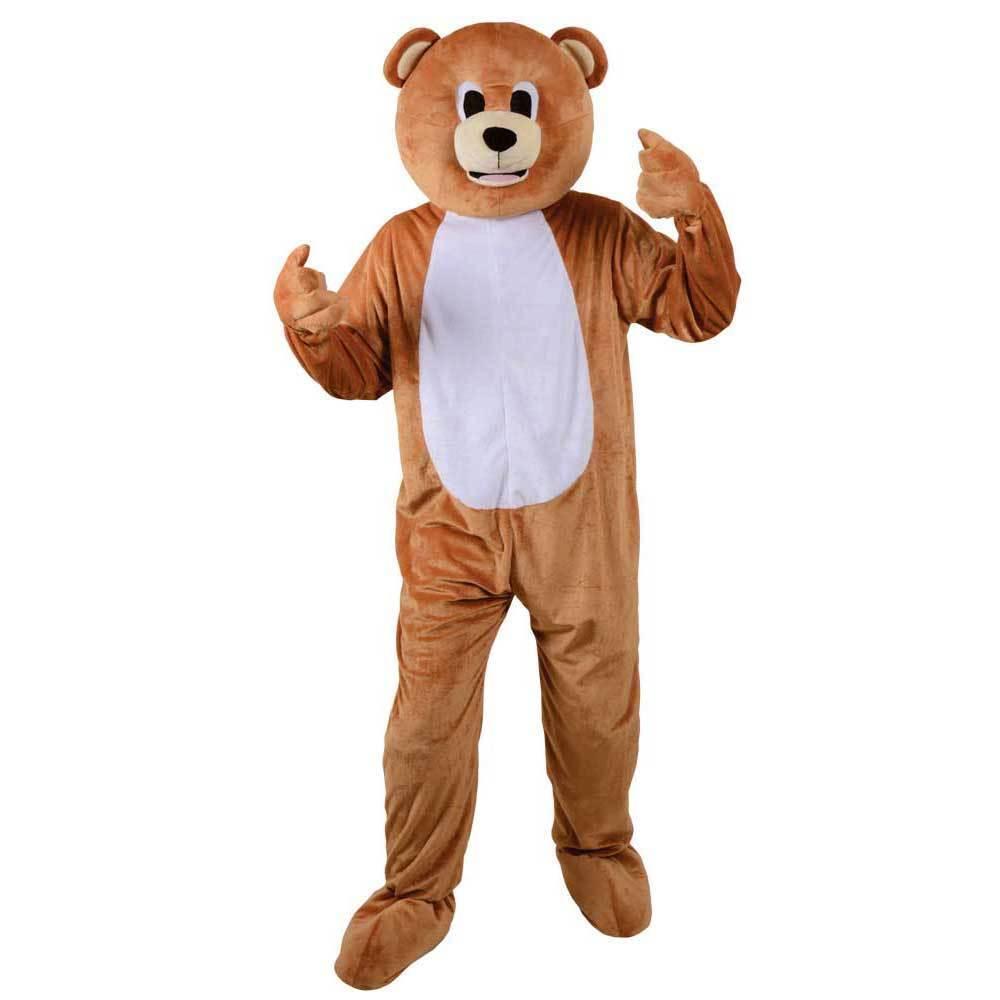 Erwachsener Lustig Teddybär Großer Kopf Maskottchen Kostüm Kostüm Kostüm Tier Zoo Dschungel | Leicht zu reinigende Oberfläche  c9abb9
