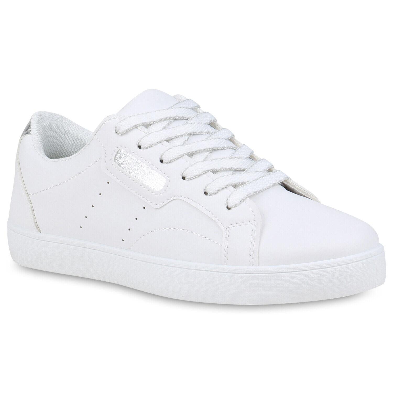 Damen Plateau Sneaker Turnschuhe Schnürer Wedges Freizeitschuhe 898951 Top