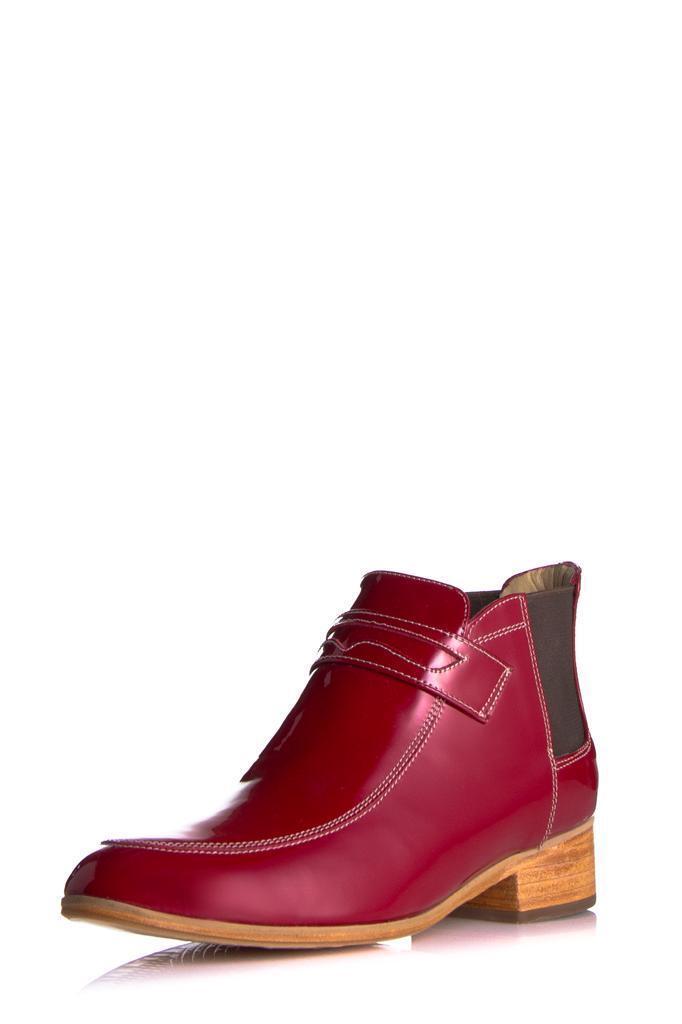 Plomo Simona Bota Rojo Patente mocasín tobillo tobillo tobillo elástica Arranque tirar de nuevo diseñador  80% de descuento