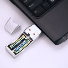 New 100% Rechargeable NiMH Battery & AAA and AA high capacity USB Charger SY UK