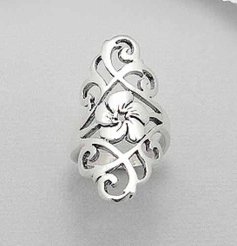 ring sterling silver Flower Design Hallmarked 925 TopWidth 39mm  6us 7us 8us 9us