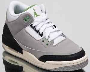 sports shoes 46578 9c77e Image is loading Air-Jordan-Retro-3-GS-Chlorophyll-Kids-Lifestyle-