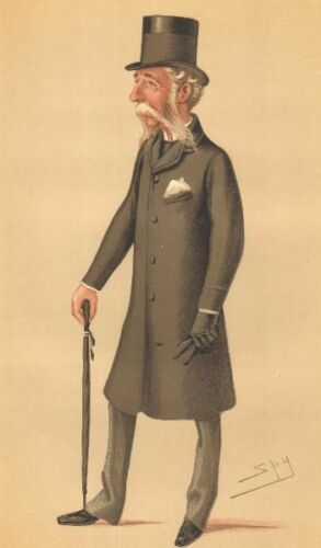 By Spy 1878 Maj-Gen Sir Daniel Lysons Militaria VANITY FAIR SPY CARTOON