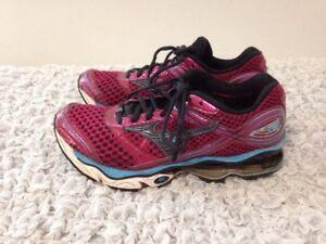 Women s Mizuno Wave Creation 13 Size 7.5 Running Shoes Pink w Aqua ... 7e83dec38cde3