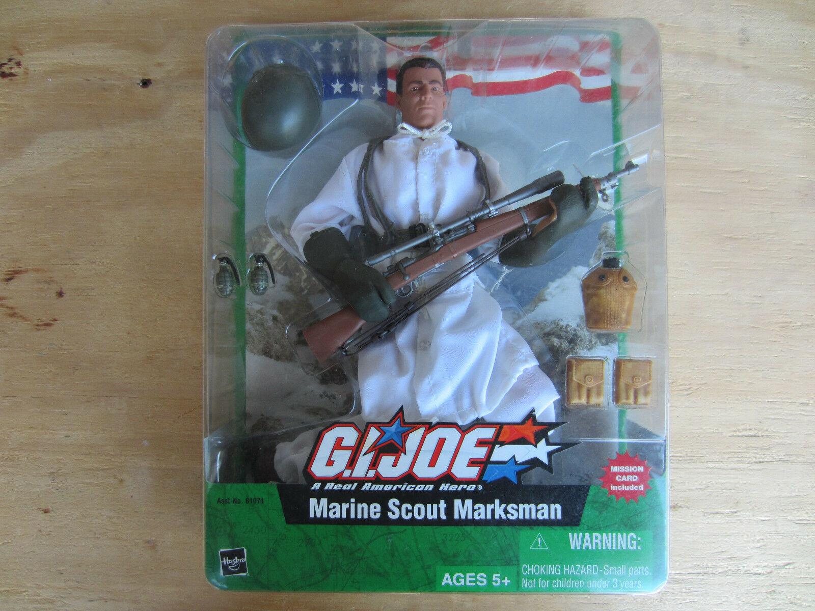 GI Joe Hasbro 2004 Action Figure 12in Marine Scout Marksman A Real Hero new