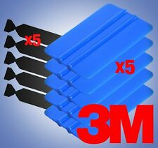 3M Blue Squeegee Applicator Tool x5 Replaceable Felt Edge Tips x5 Vinyl Wrap Kit