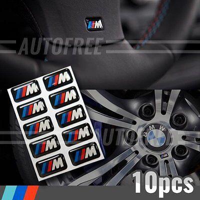 10x M TEC STICKER EMBLEM BADGE FOR BMW STEERING WHEEL RIM INTERIOR MTEC M3 M5 M6