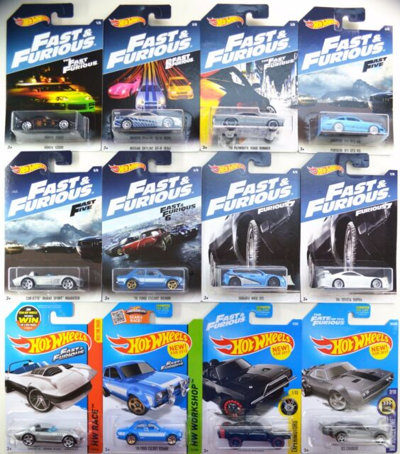 2017 Hot Wheels Fast And Furious Walmart Complete 8 Car Set 4