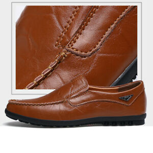 fashion men's casual leather shoes breathable antiskid