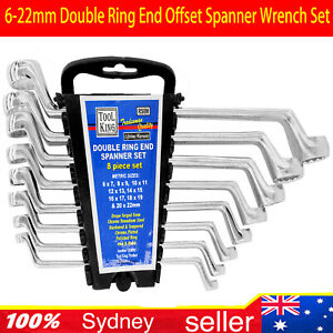 8-Piece-Double-Ring-End-Offset-Spanner-Wrench-Set-Metric-6-22mm-w-Porch-AU-STOCK