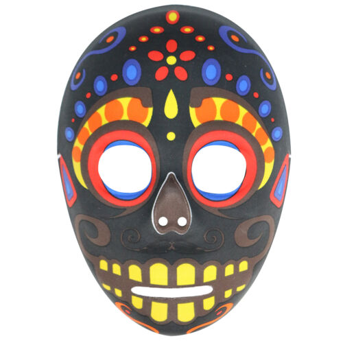 Da Uomo GIORNO DEI MORTI MESSICANO SUGAR SKULL HALLOWEEN MASCHERA Costume Zombie-Nero