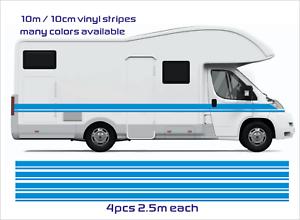 Camper UK Motorhome Stripes Vinyl Stickers  Van Horsebox Caravan RV 10m 10cm