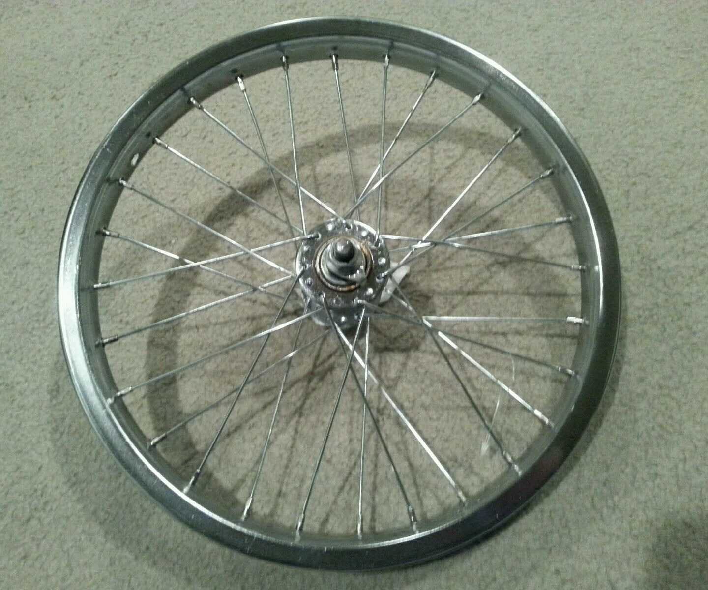 1  NEW 16   FRONT CHROME BICYCLE  RIM 16X1.75,  28 SPOKE 14G  top brands sell cheap