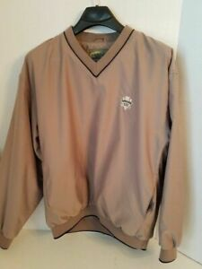 OZZO-Sport-Mens-Pull-Over-Golf-Jacket-Medium-Long-Sleeve-V-Neck-Logo