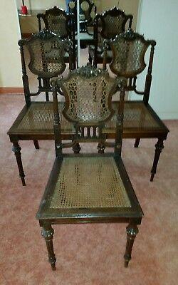 3 Stühle Antik Viktoriansch Mit Geflecht Top Zustand Mit Dem Besten Service