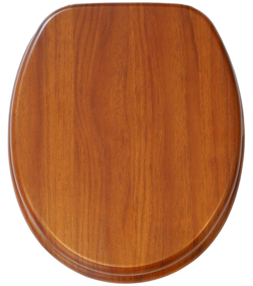 wc sitz toilettendeckel klodeckel wc deckel mit absenkautomatik bambus gestreift ebay. Black Bedroom Furniture Sets. Home Design Ideas