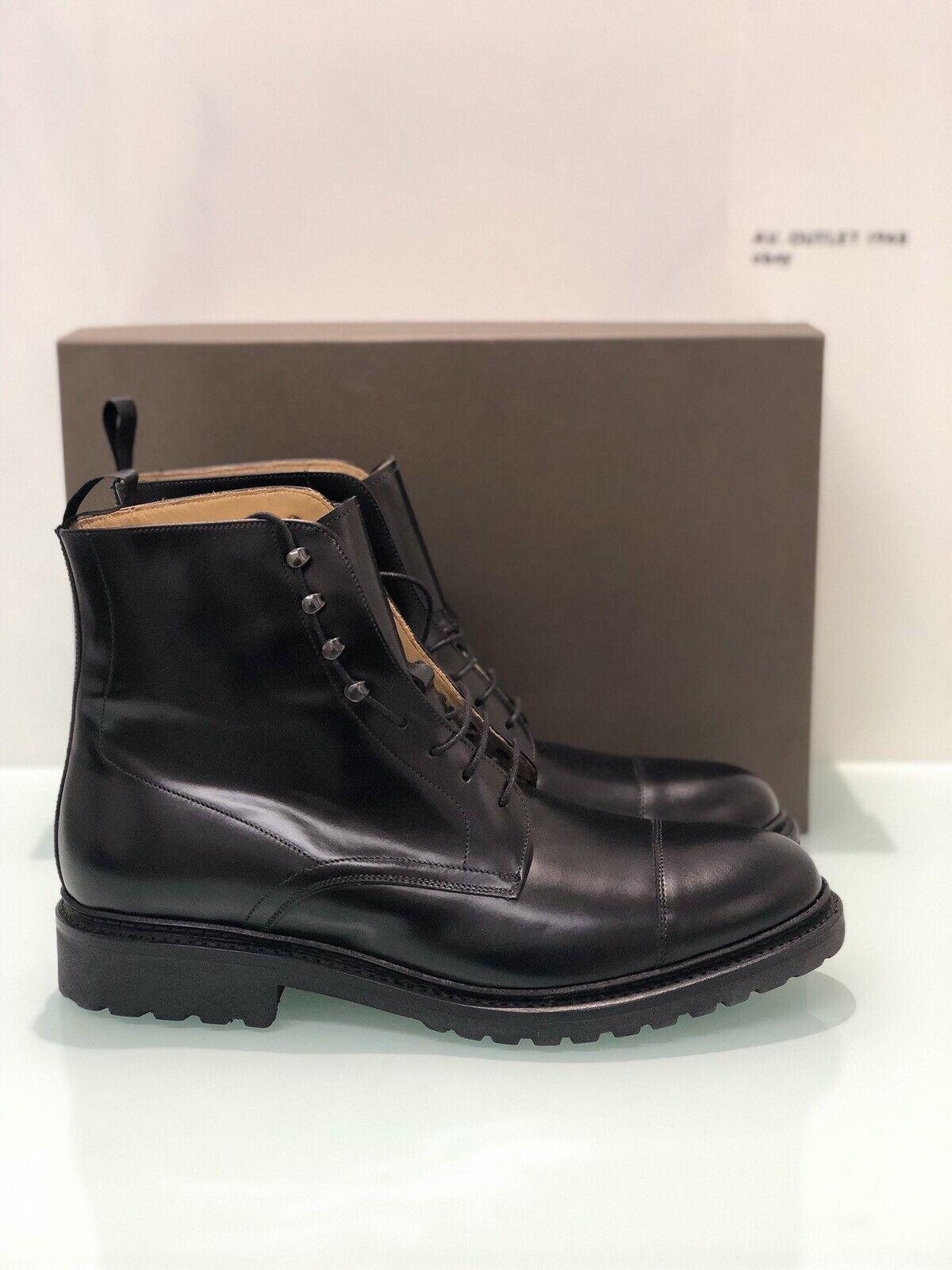 Stiefelette Schwarzes Leder Herren Modell David Brugnoli Luxury Mann Schuhe